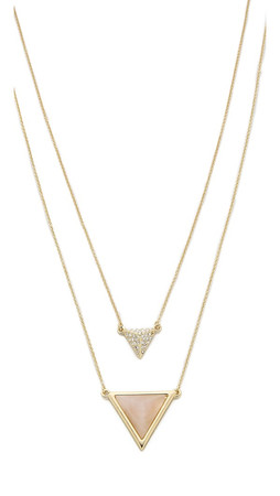 House Of Harlow 1960 Temple Pave Necklace - Gold/Rose/Clear