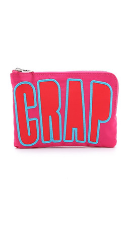 House Of Holland Nylon Pouch With Lettering - Pink