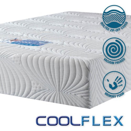 Icon Designs Concept Memory Sleep CoolFlex 20 High Density Cooler Memory Foam Mattress - UK Single w