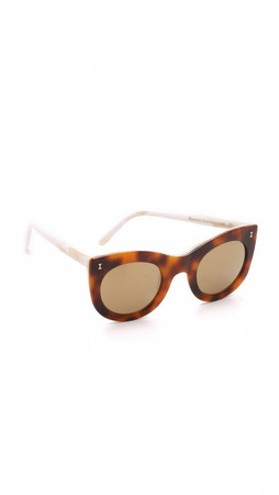 Illesteva Boca Mirrored Sunglasses - Havana/Gold
