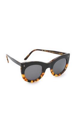 Illesteva Boca Sunglasses - Half & Half Tortoise/Black