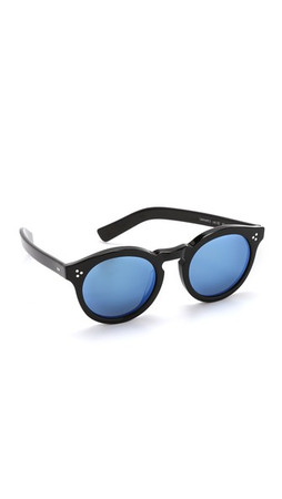 Illesteva Leonard Ii Mirrored Sunglasses - Black/Blue