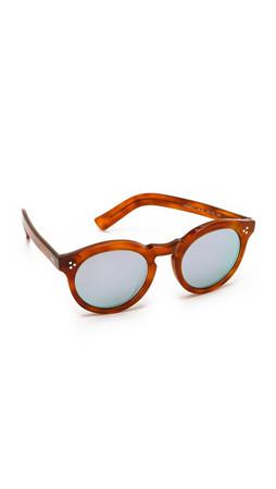 Illesteva Leonard Ii Mirrored Sunglasses - Red Havana/Silver