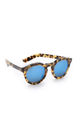 Illesteva Leonard Ii Ring Mirrored Sunglasses - Tortoise/Blue