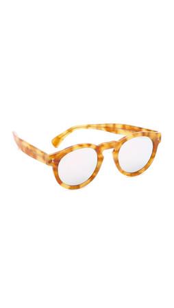 Illesteva Leonard Mirrored Sunglasses - Amber/Silver
