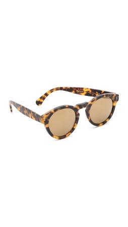 Illesteva Leonard Mirrored Sunglasses - Matte Tortoise/Gold