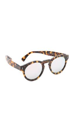 Illesteva Leonard Mirrored Sunglasses - Tortoise/Silver