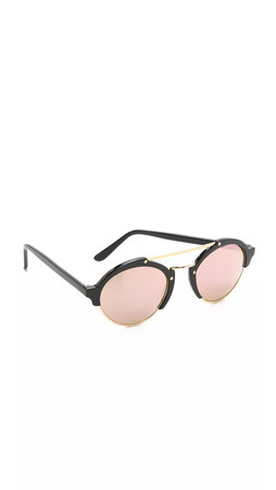 Illesteva Milan Ii Mirrored Sunglasses - Black/Rose