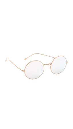 Illesteva Porto Cervo Mirrored Sunglasses - Gold/Silver