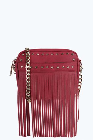 Interchangeable Belt Cross Body Bag red