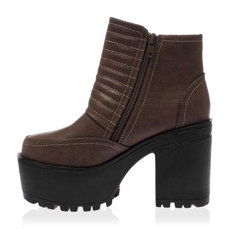Iris Grey Block Heel Boots