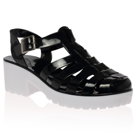 Isla Black Jelly Sandal