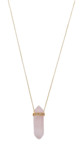 Jacquie Aiche Crystal Necklace - Pink/Gold