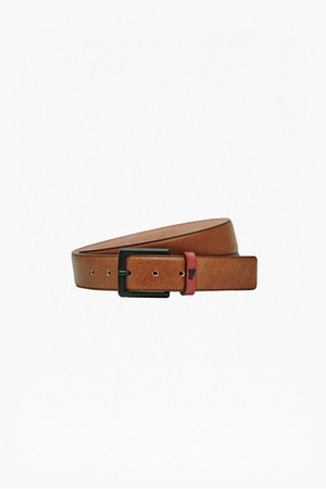 Jasper Leather Belt - Cognac/Rhododendron