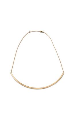 Jennifer Zeuner Jewelry Choker Chain Necklace - Gold