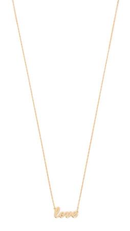 Jennifer Zeuner Jewelry Cursive Love Necklace - Gold