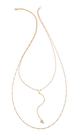 Jennifer Zeuner Jewelry Double Layer Necklace - Gold