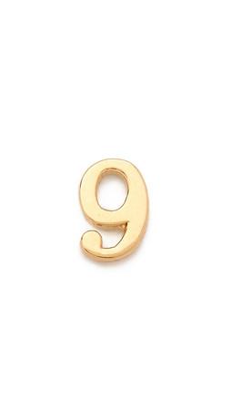 Jennifer Zeuner Jewelry Individual Number Earring - Nine