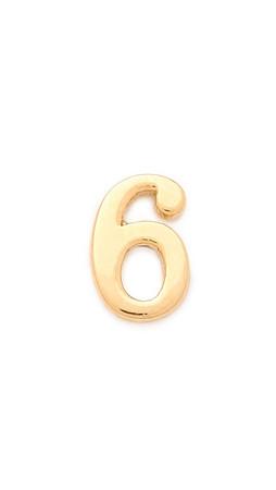 Jennifer Zeuner Jewelry Individual Number Earring - Six