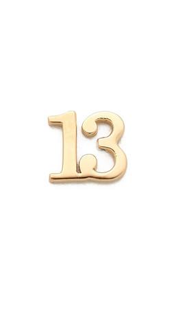 Jennifer Zeuner Jewelry Individual Number Earring - Thirteen