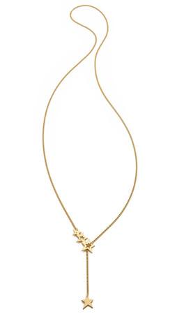 Jennifer Zeuner Jewelry Lake Lariat Necklace - Gold