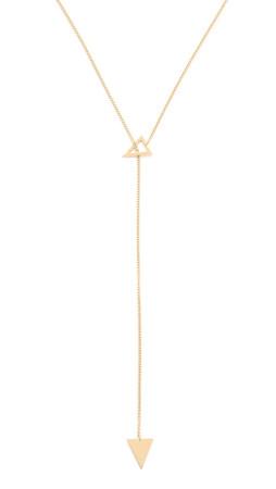Jennifer Zeuner Jewelry Sasha Lariat Necklace - Gold