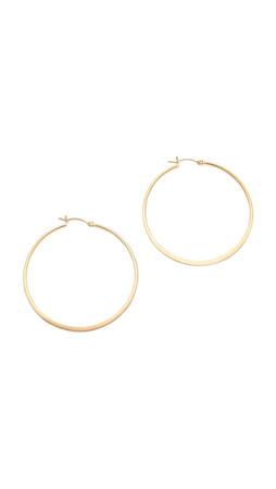 Jennifer Zeuner Jewelry Small Hoop Earrings - Gold