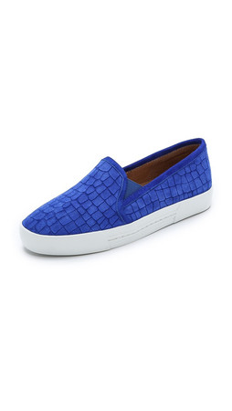 Joie Huxley Slip On Suede Sneakers - Deep Indigo