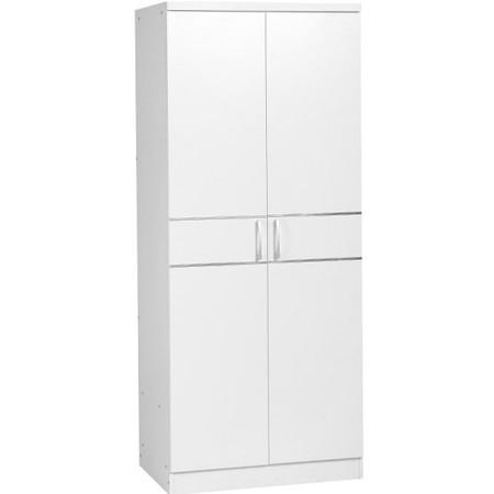 Jordan 2 Door Wardrobe in White -