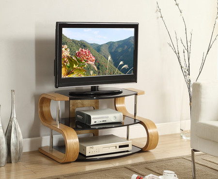 Jual Furnishings Curve 85cm Oak S TV Stand
