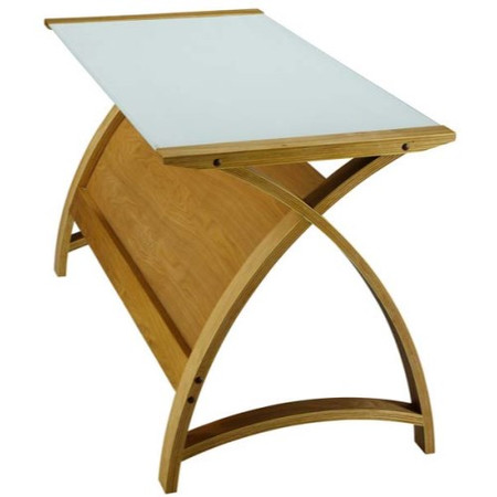 Jual Furnishings Delta Laptop Desk in Oak and White