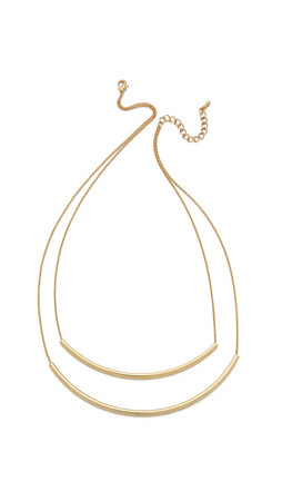 Jules Smith Double Bar Necklace - Yellow Gold