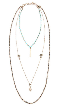 Jules Smith Gaia Necklace - Antique Gold/Turquoise