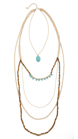 Jules Smith Lilianna Necklace - Gold/Turquoise