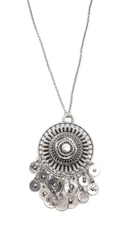 Jules Smith Medallion & Coin Necklace - Silver