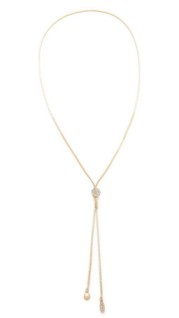 Jules Smith Pave Circle Lariat Necklace - Gold