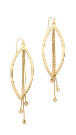 Jules Smith Plain Luxe Drop Earrings - Gold