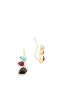 Jules Smith The Muse Ear Crawlers - Black/Ruby/Turquoise/Gold