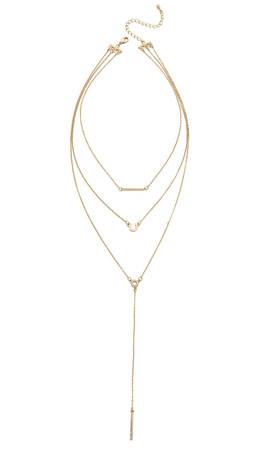 Jules Smith Triple Layer Lariat Charm Necklace - Gold