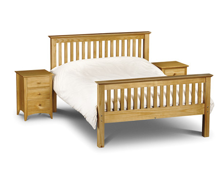 Julian Bowen Barcelona Double Pine High Foot End Bed