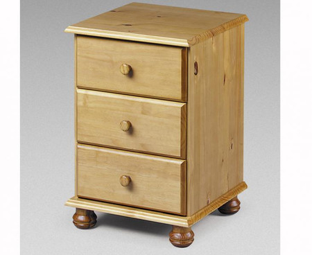 Julian Bowen Pickwick 3 Drawer Bedside Cabinet
