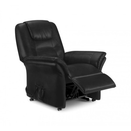 Julian Bowen Riva Riser Recliner Armchair in Black