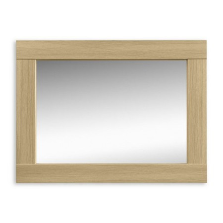 Julian Bowen Strada Wall Mirror in Light Oak