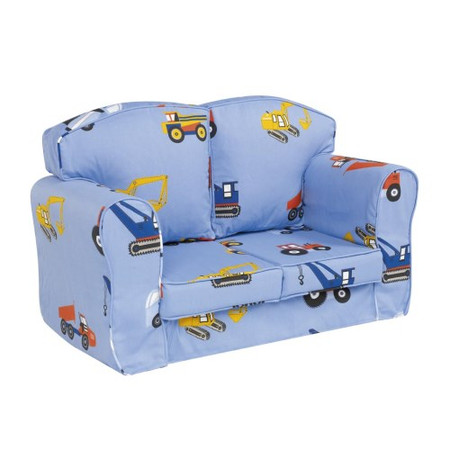 Just4Kidz Loose Cover Sofa in Toy Trucks