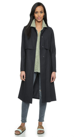 Just Female Norma Trench Coat - Dress Blue