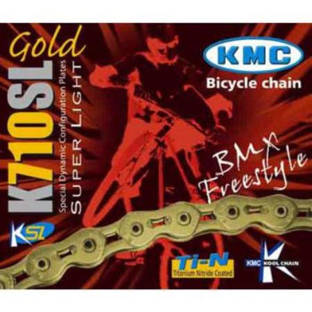 """""""KMC K710-SL Kool Gold BMX Chain with 100 Links - 1 1/8"""""""" 100 Links"""""""