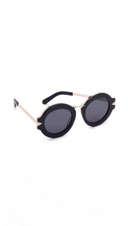 Karen Walker Maze Sunglasses - Navy Gold/Navy Mono