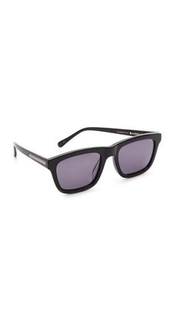 Karen Walker Special Fit Deep Freeze Sunglasses - Black/Smoke Mono