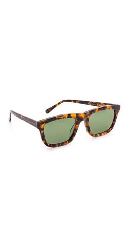Karen Walker Special Fit Deep Freeze Sunglasses - Crazy Tort/G15 Mono