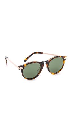 Karen Walker Special Fit Helter Skelter Sunglasses - Crazy Tort/G15 Mono